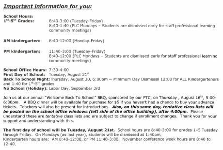 Newsletter or Calendar | Kaseberg Korner: Kaseberg Elementary PTC
